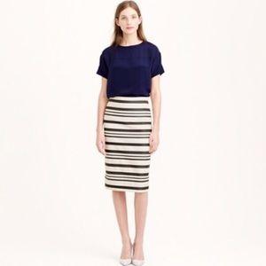 J Crew Double Stripe Pencil Skirt